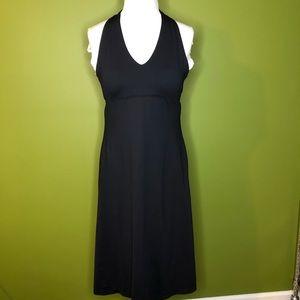 Patagonia Black Halter Back Tie Dress